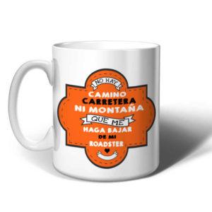 Taza-no-hay-camino-roadster-naranja
